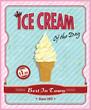 Vintage ice cream poster