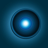 new shiny powerful blue business circle concept halftone dotes v