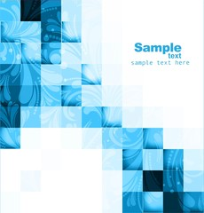 abstract vector seamless blocks blue colorful floral structure