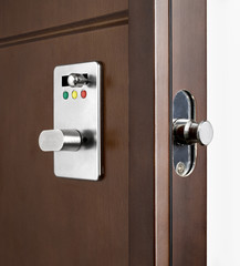 Wooden doors with lock 10