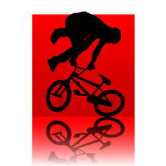 bmx red square