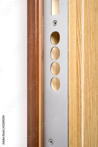 Wooden doors with lock 13
