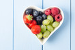 Fruit Heart Overhead