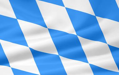 Flagge von Bayern - offizielle Rautenanzahl