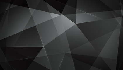 Abstract geometric triangle background. Black Version.