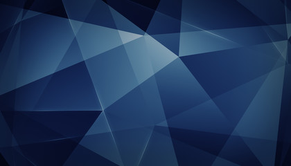 Abstract geometric triangle background. Blue Version.