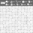 396 gray icons set