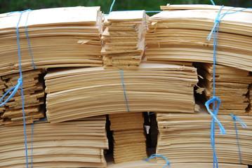 Holzschindeln Baumaterial
