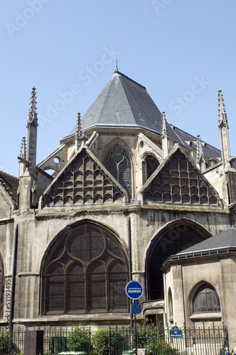 Church Eglise of Saint Severin in Latin Quarter Paris France his