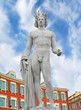 Apollo statue on the Place Massena in Nice, France.