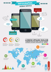 Beautiful Smartphone Infographic.