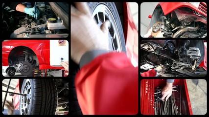 auto repair shop, collage