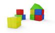 Wir bauen uns ein Haus aus bunten Bauklötzen 4