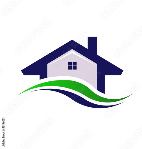 Houses Estate  logo design element vector