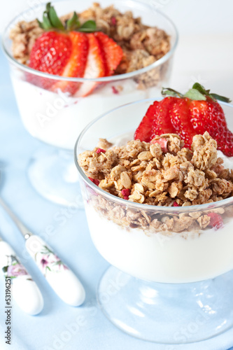 Muesli with greek yogurt