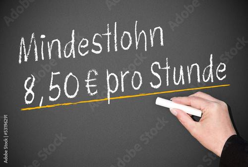 Mindestlohn 8,50 Euro pro Stunde