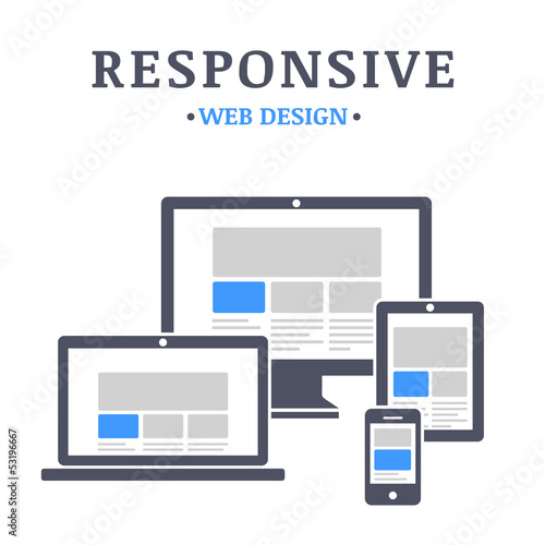 Responsive web design on different devices - 53196667