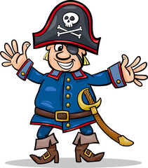 pirate captain cartoon illustration