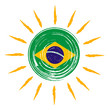 Brazilian flag in sun