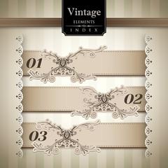 Vintage style Stripe Background