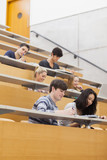 Studying students in a lecture hall