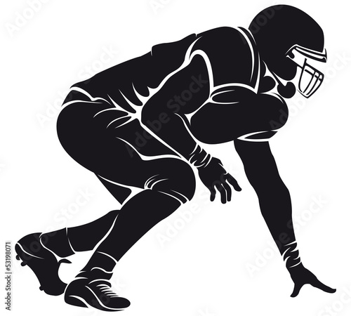 American football player, silhouette