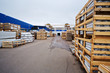 Warehouse of materials and finished goods at plant