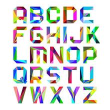 Helle Buchstaben des Alphabets