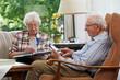 Senior couple, reading
