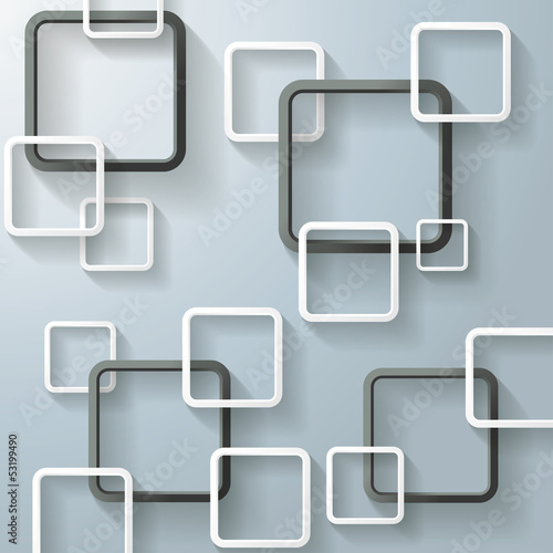 Abstract Window Rectangles Four Black
