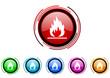 enter vector glossy web icon set