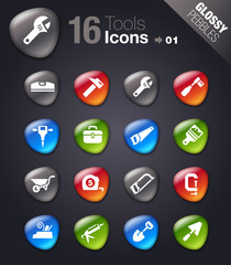 Glossy Pebbles - Tools and Construction icons