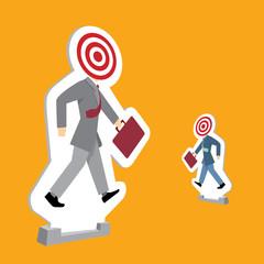 Businessmen standing as targets