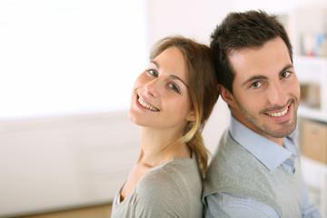 Portrait of smiling loving couple