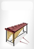 Two Retro Marimba with A White Banner