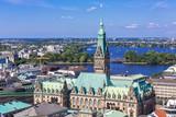 Fototapety Blick auf das Rathaus Hamburg