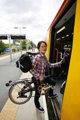 Folding bicycle on a Public Transport
