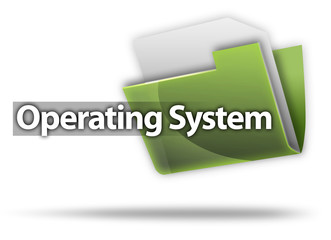 """3D Style Folder Icon """"Operating System"""""""