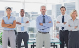 Team of business people standing with arms folded