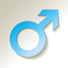 Marssymbol männliche Geschlecht Symbol blau