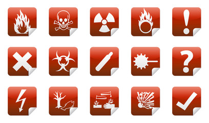 Danger sticker icon