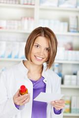 Female pharmacist chemist