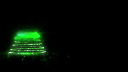 Green Glowing Christmas Tree