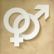 Venussymbol und Marssymbol Vintage