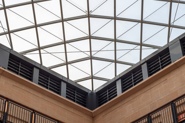 Modern design shopping mall glass panel roof