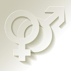 Venussymbol und Marssymbol