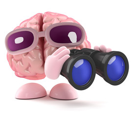 3d Brain watches everything