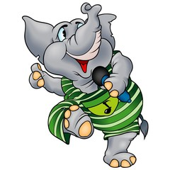 Elephant with Microphone