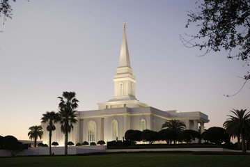 Orlando Florida Mormon Temple at Dusk