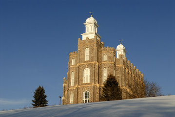 Mormon Temple in Logan Utah in the Winter